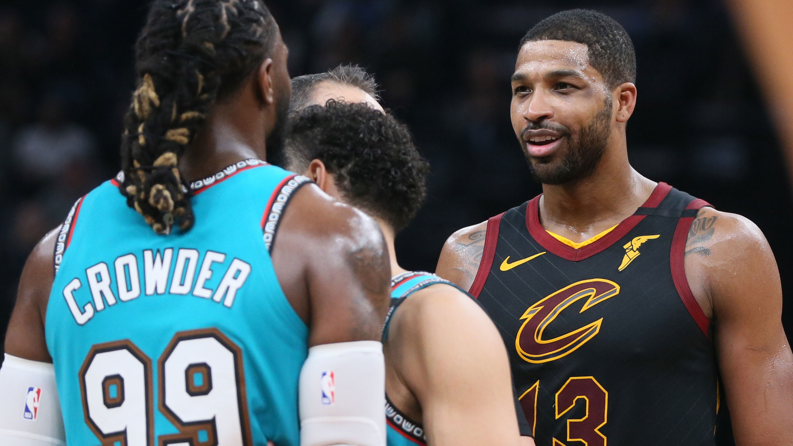 Tristan Thompson was ejected from a game for slapping an opponent's butt