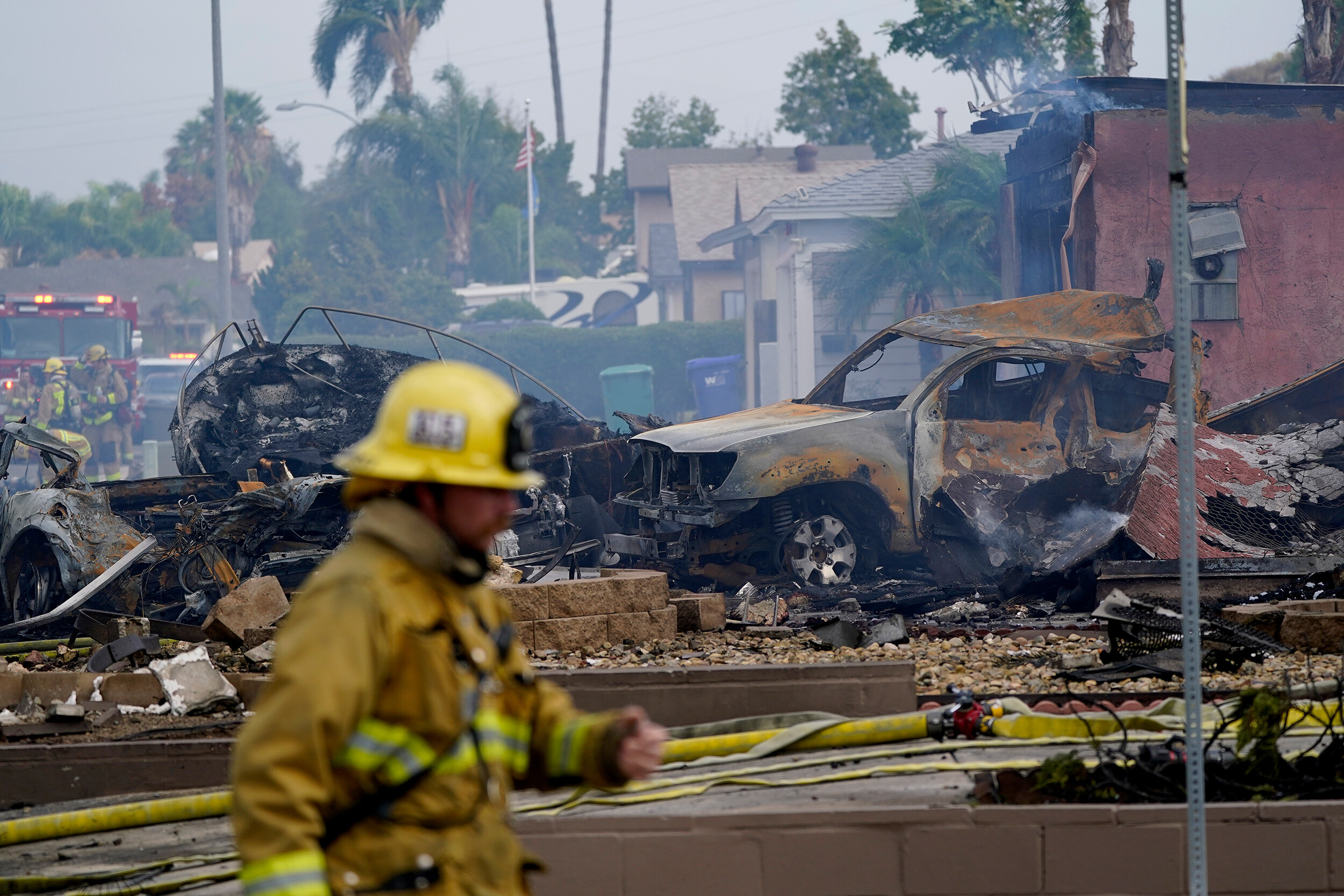 UPS driver among at least two killed after small plane crashes in Southern California neighborhood