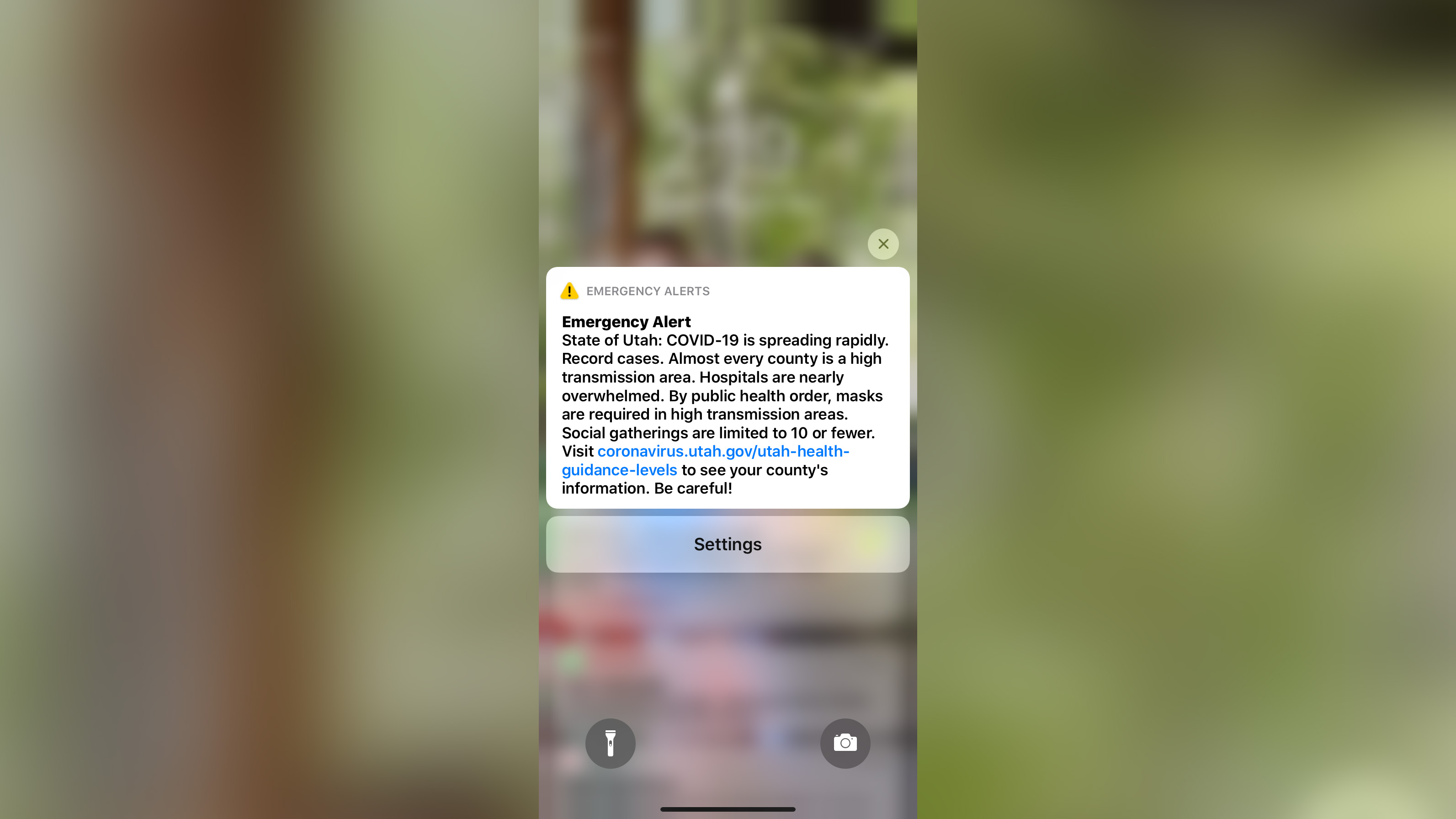 Utah sent every phone in the state an emergency alert warning about rapidly rising Covid-19 cases and overwhelmed hospitals