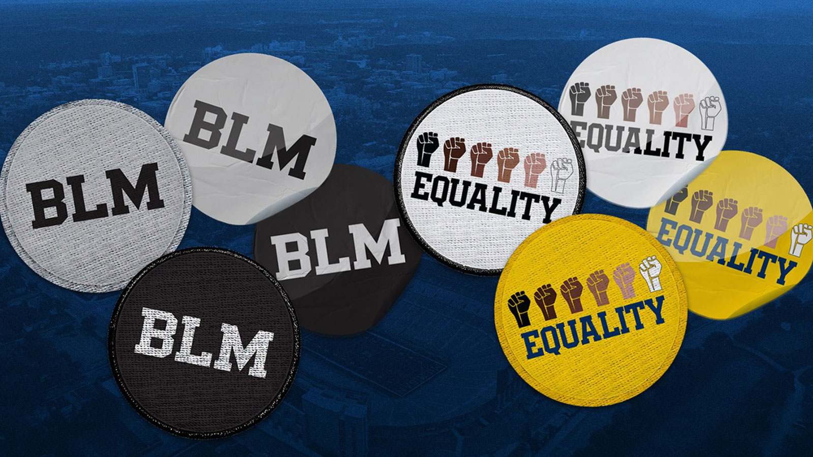 University of Michigan football team debuts an 'EQUALITY' decal on helmets