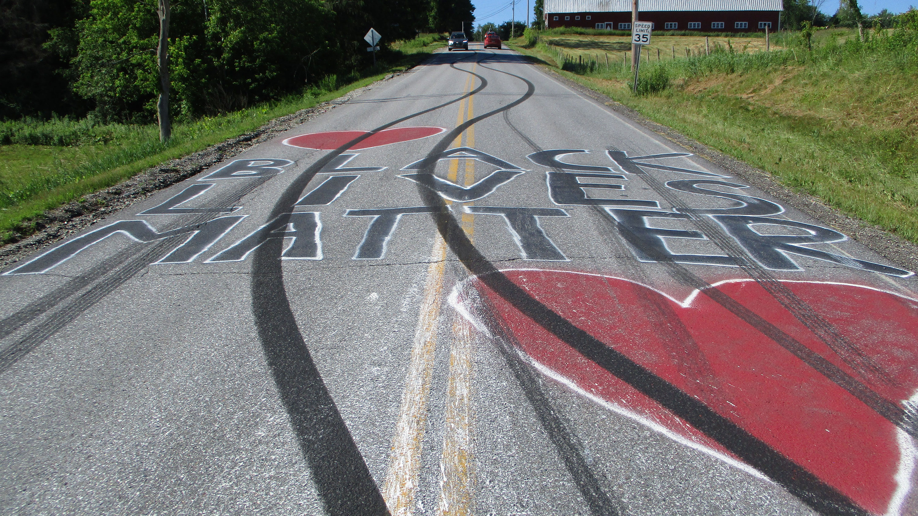Vermont Black Lives Matter roadway murals defaced, state police say