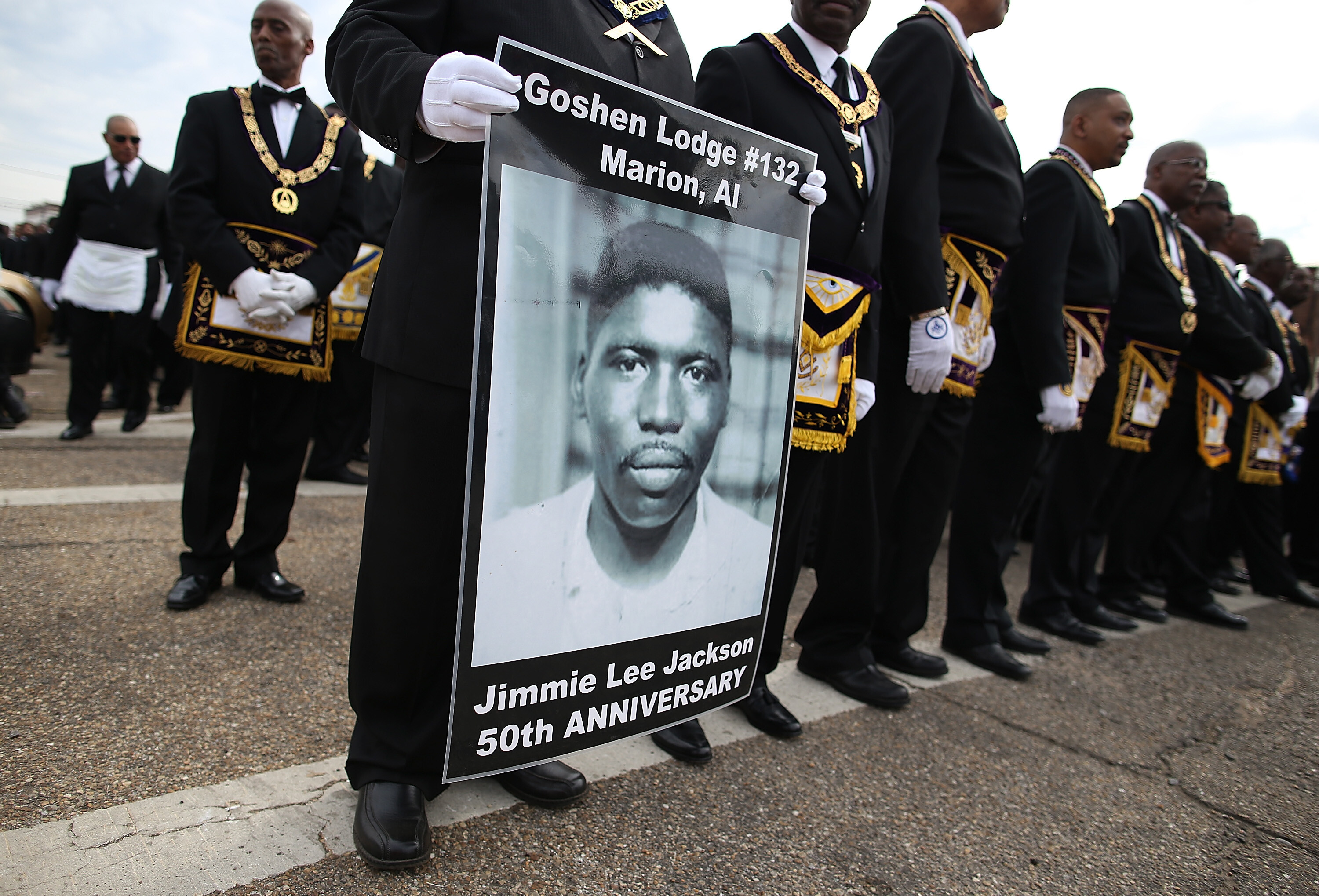 Voting rights march leaders honor the sacrifice made by foot soldiers killed during the civil rights era