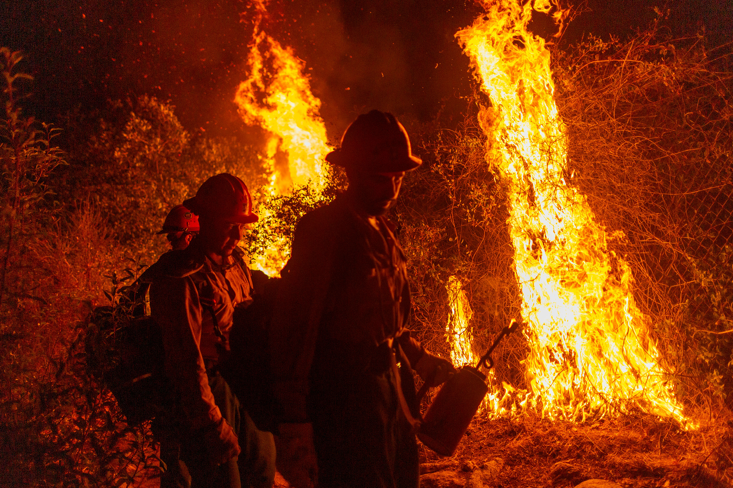 California governor emphasizes wildfires show reality of climate change