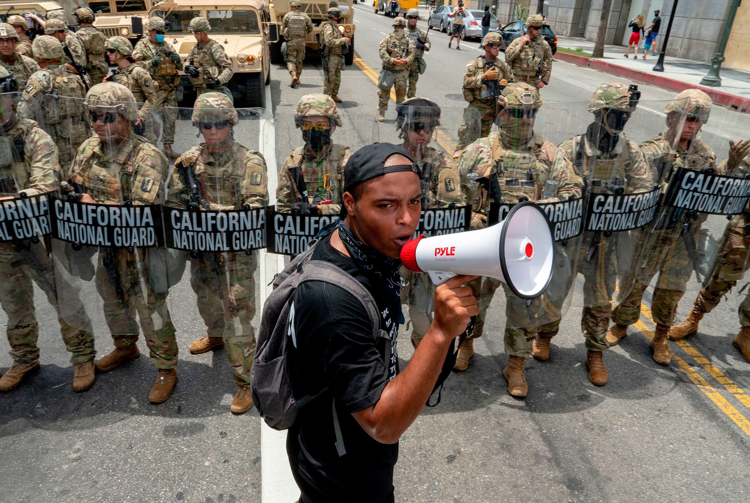 The National Guard has a long history of being called out during protests – but not in numbers like this