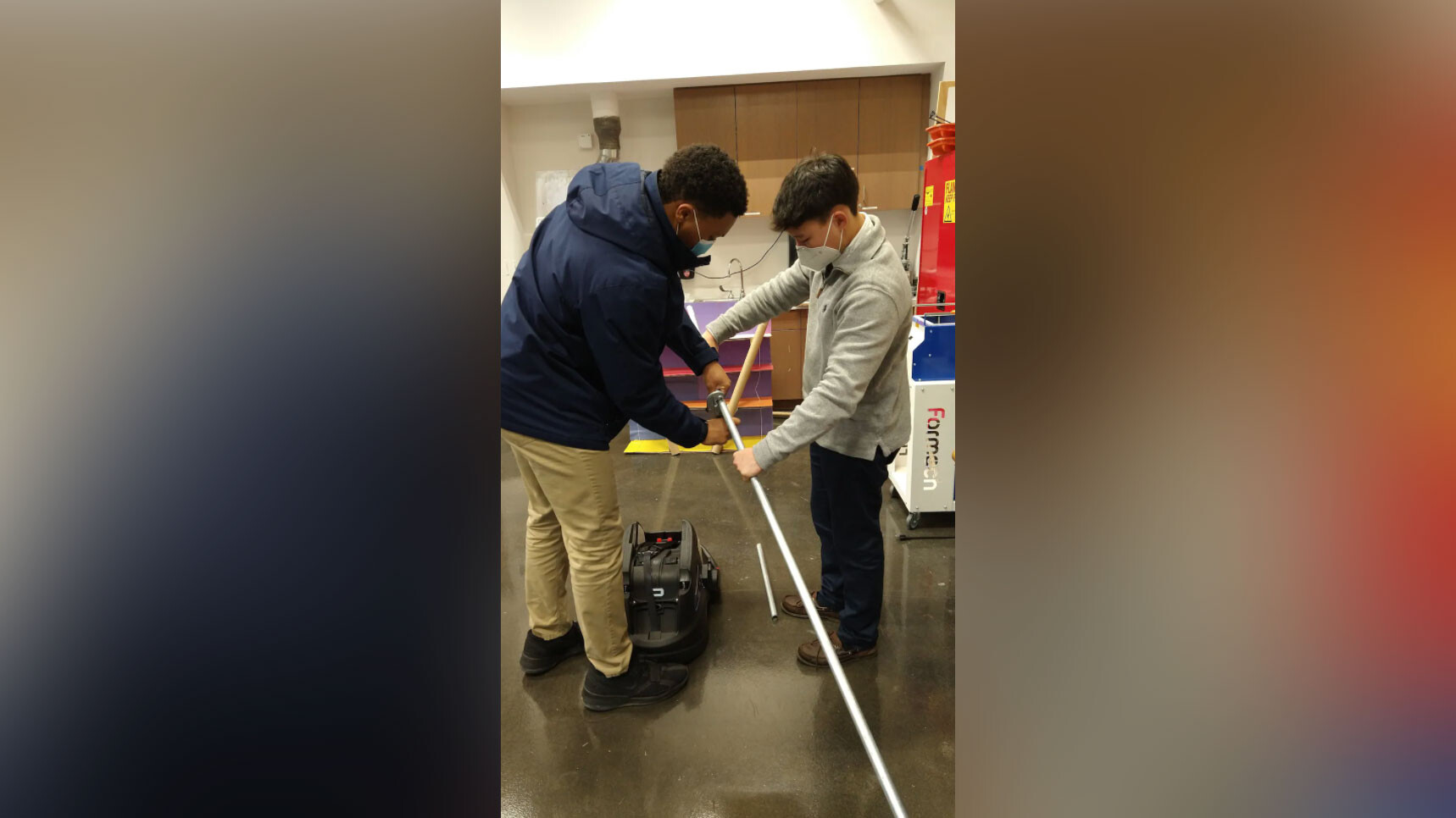 A team of high schoolers built a device that allows people in wheelchairs to walk their babies