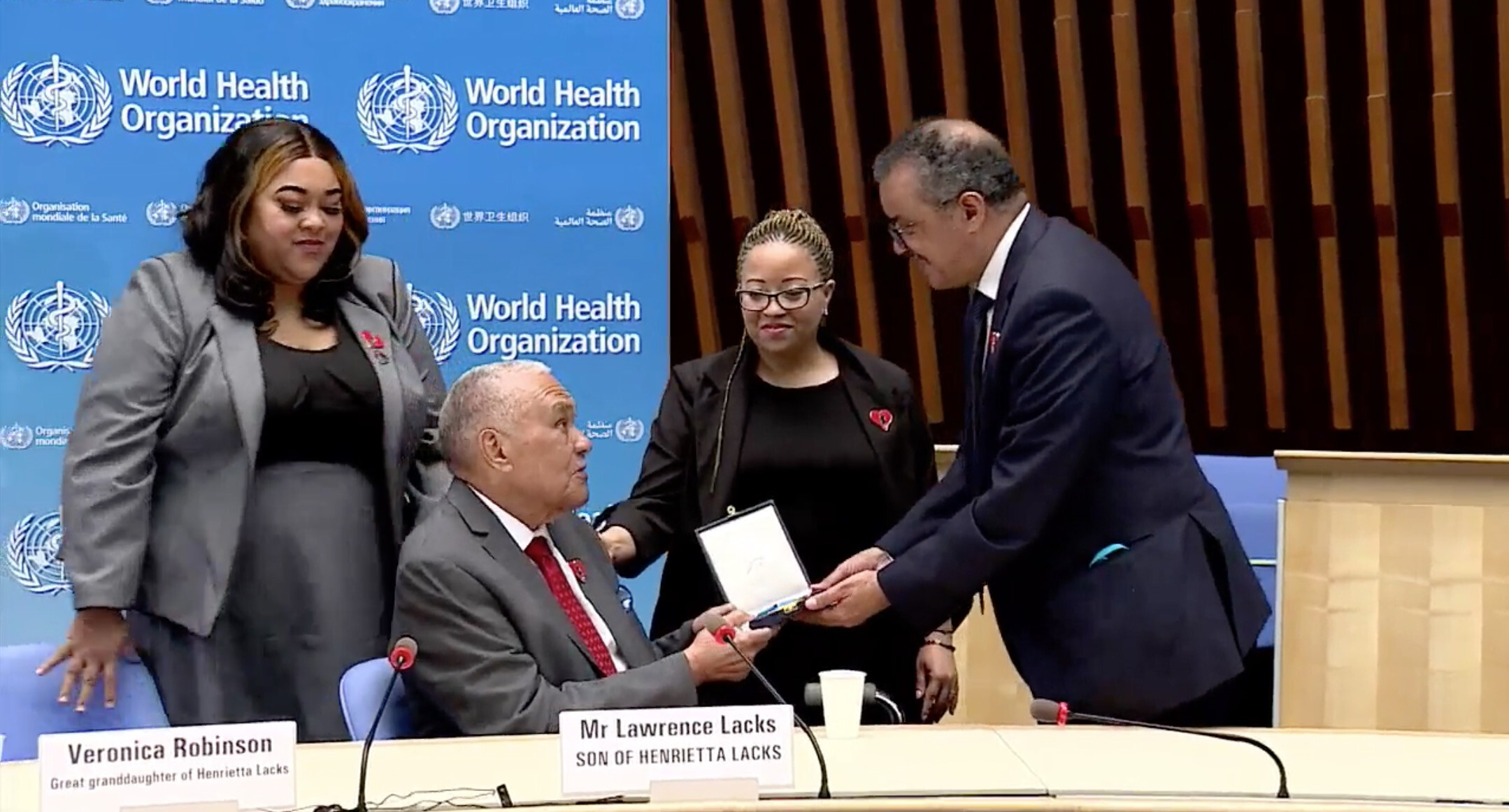 The World Health Organization honors the late Henrietta Lacks for her contributions to scientific research