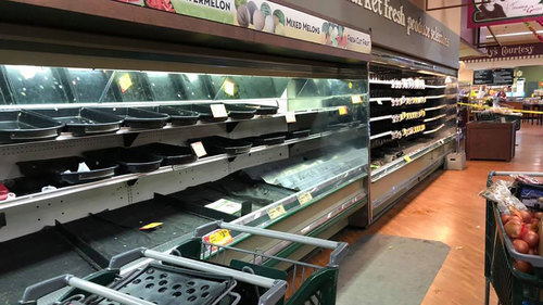 Image for A grocery store threw out $35,000 in food that a woman intentionally coughed on, sparking coronavirus fears, police said