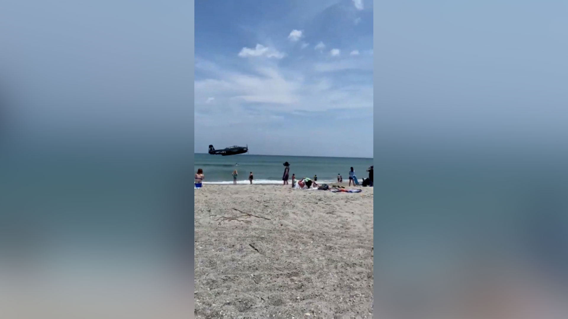 WWII era plane makes emergency landing near Florida beach