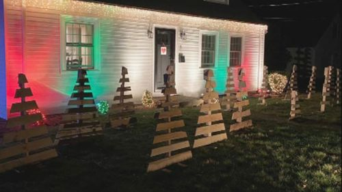 Image for Teen builds Christmas trees, raises $13,000 for friend injured in accident
