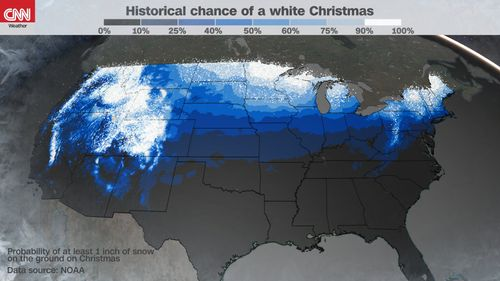 Image for There's an actual scientific definition of a 'white Christmas'