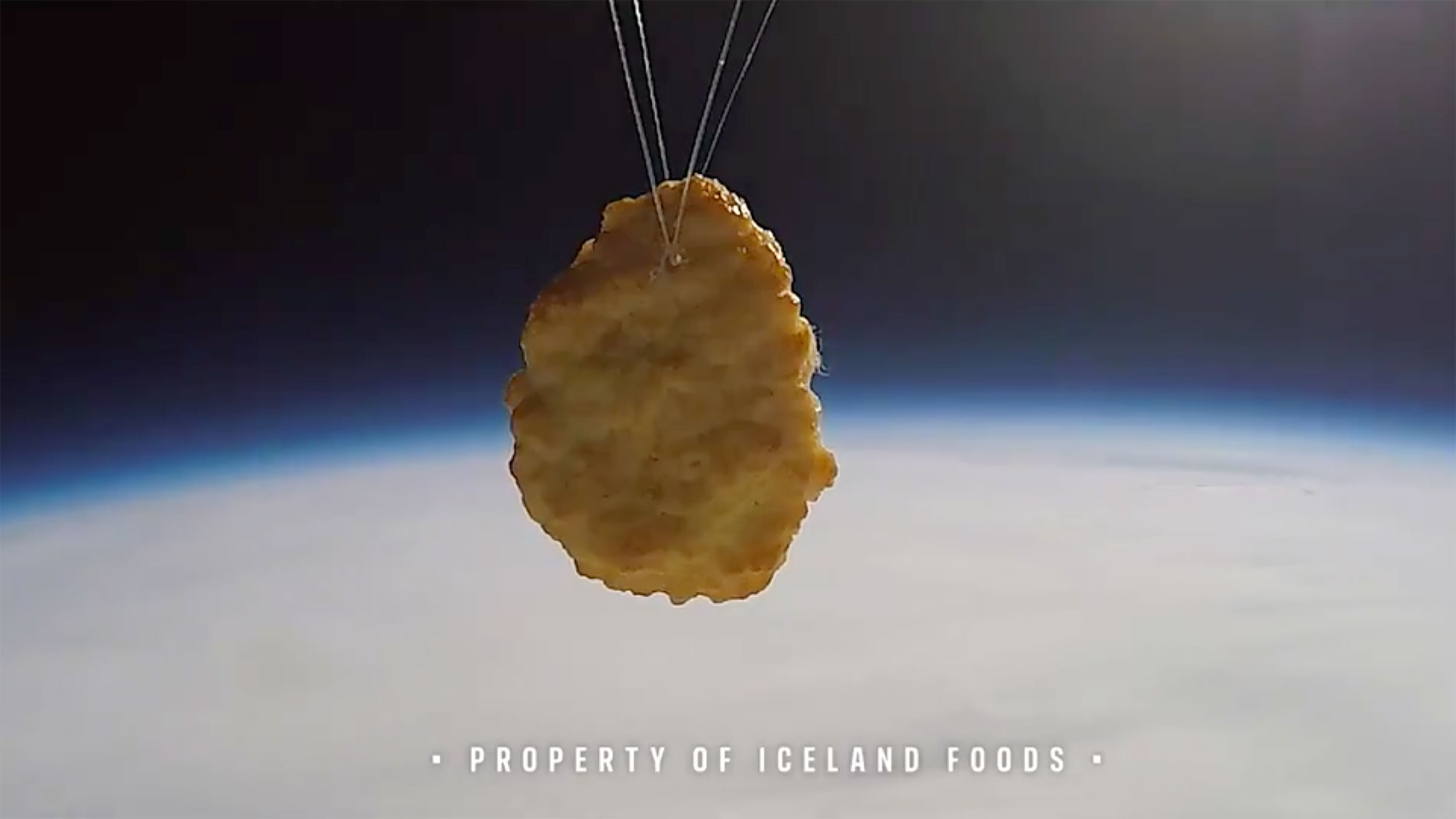 A British supermarket launched a chicken nugget into space