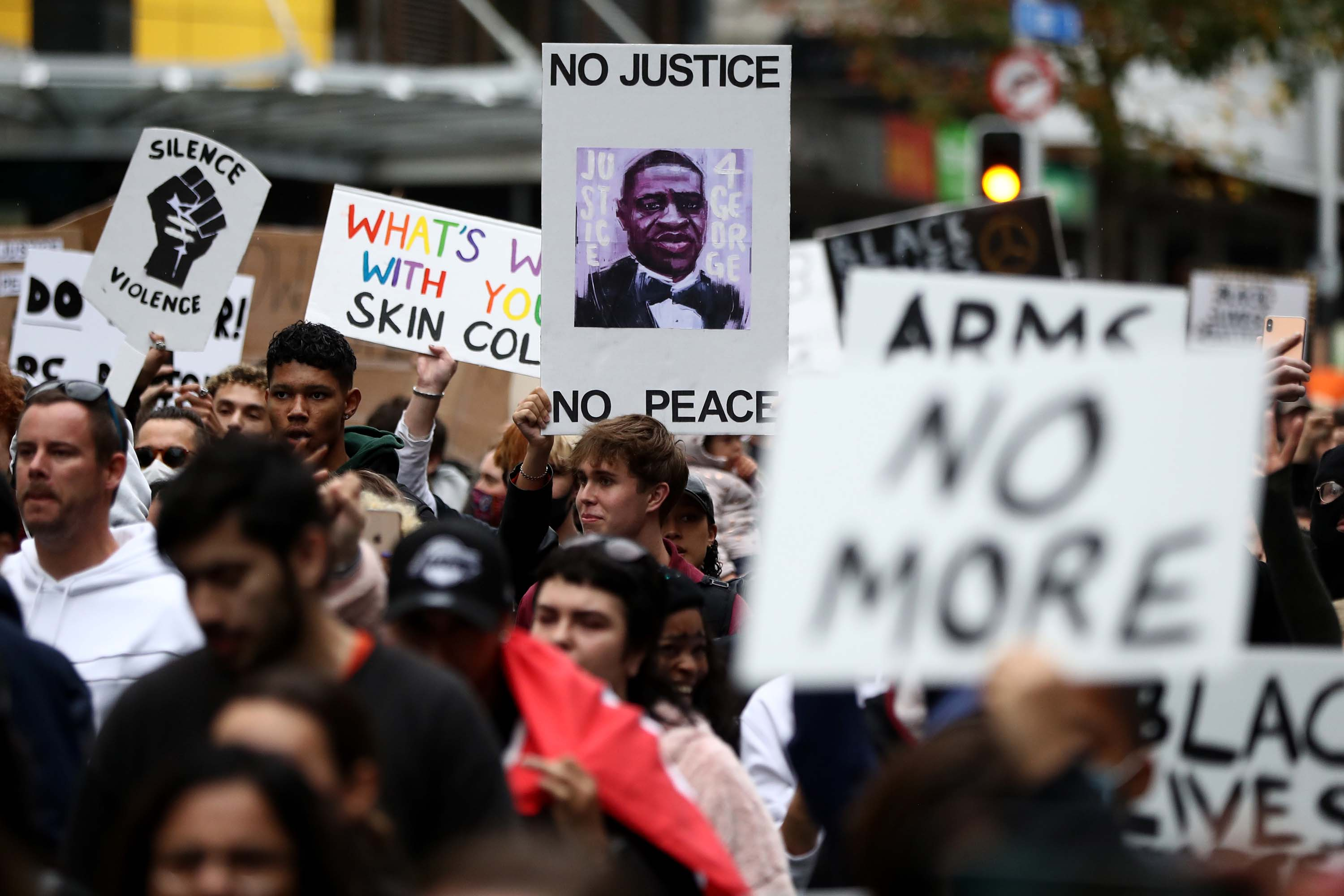 Thousands around the world protest George Floyd's death in global display of solidarity