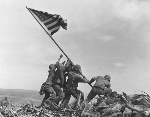 Image for 75 years ago today, US Marines raised the American flag over Iwo Jima. Here's the inside story