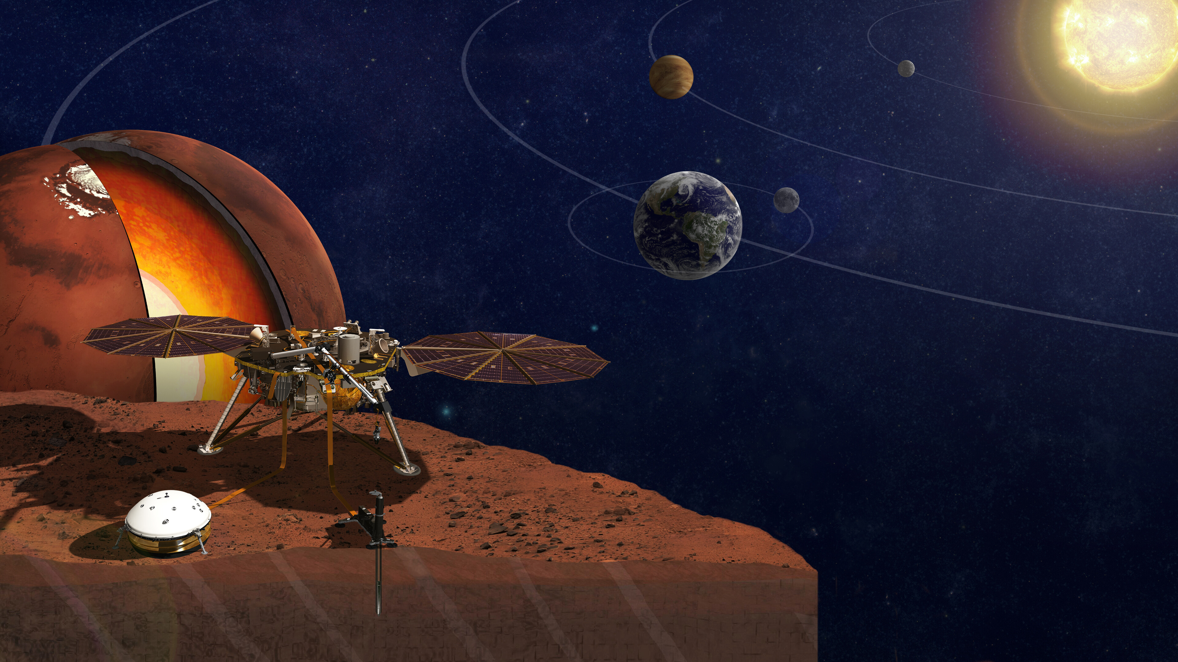 Marsquakes reveal the mysterious interior of the red planet
