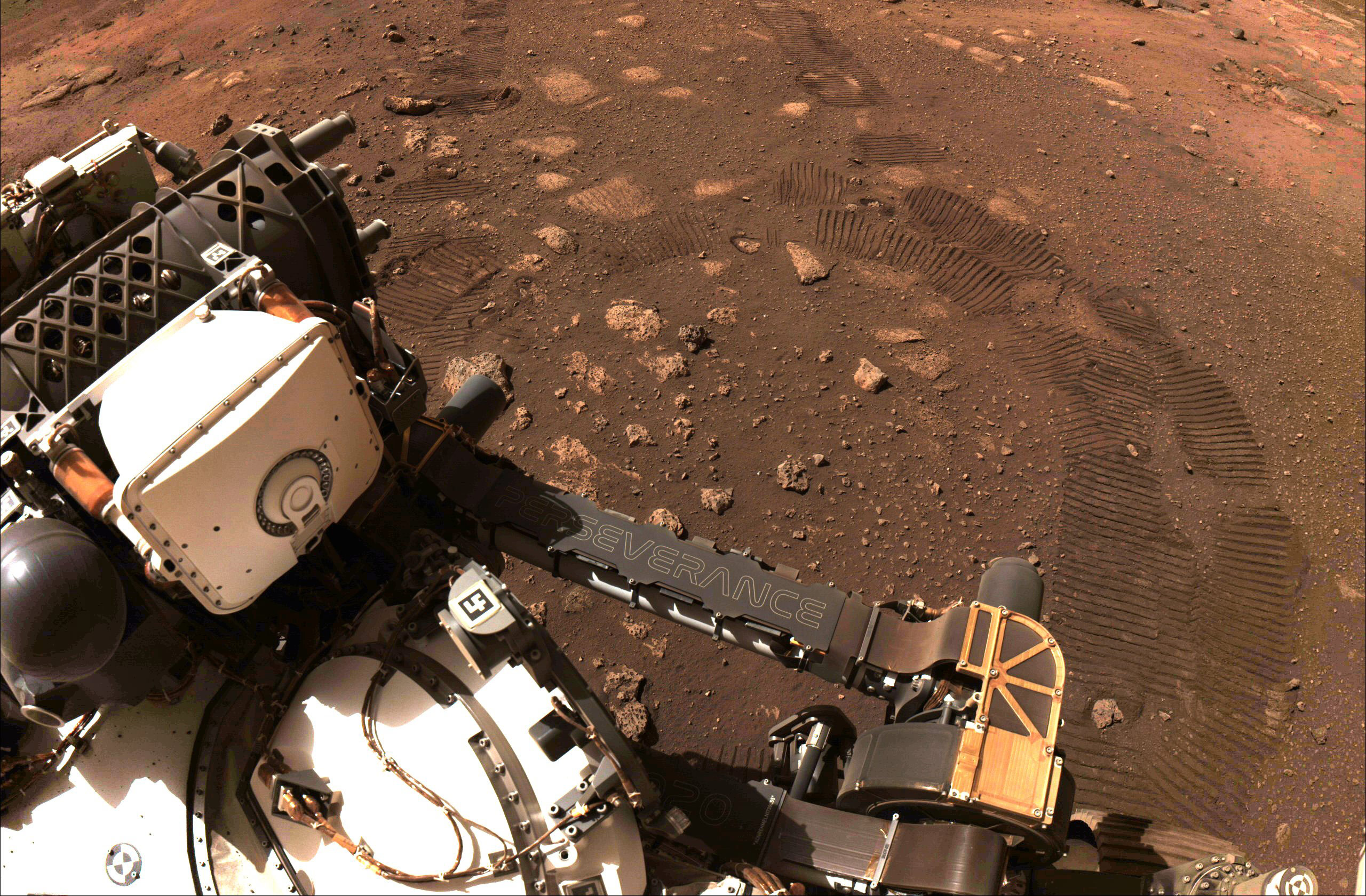 Perseverance rover takes its first drive on Mars, sends back image
