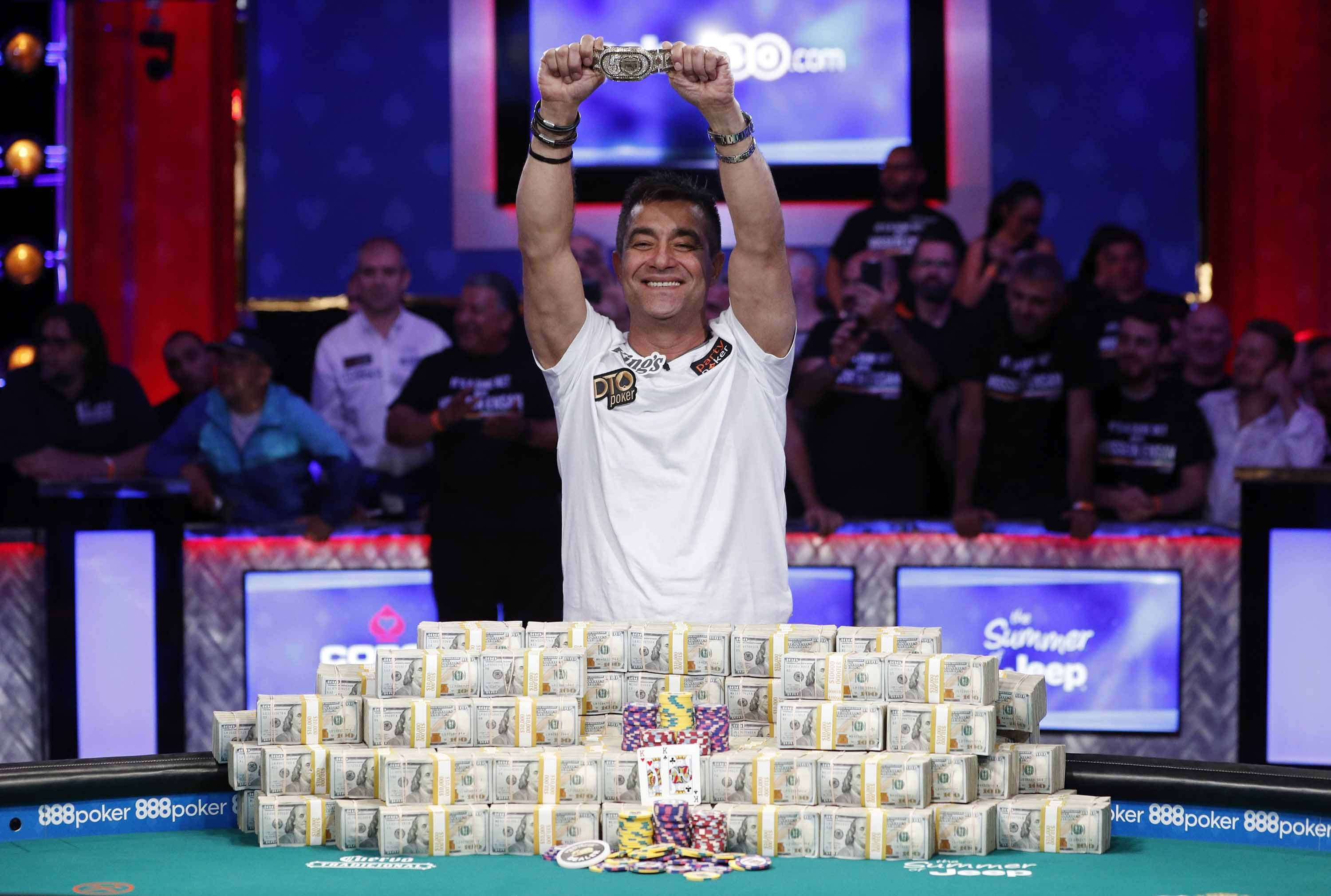 Hossein Ensan wins the 2019 World Series of Poker main event and takes home $10 million