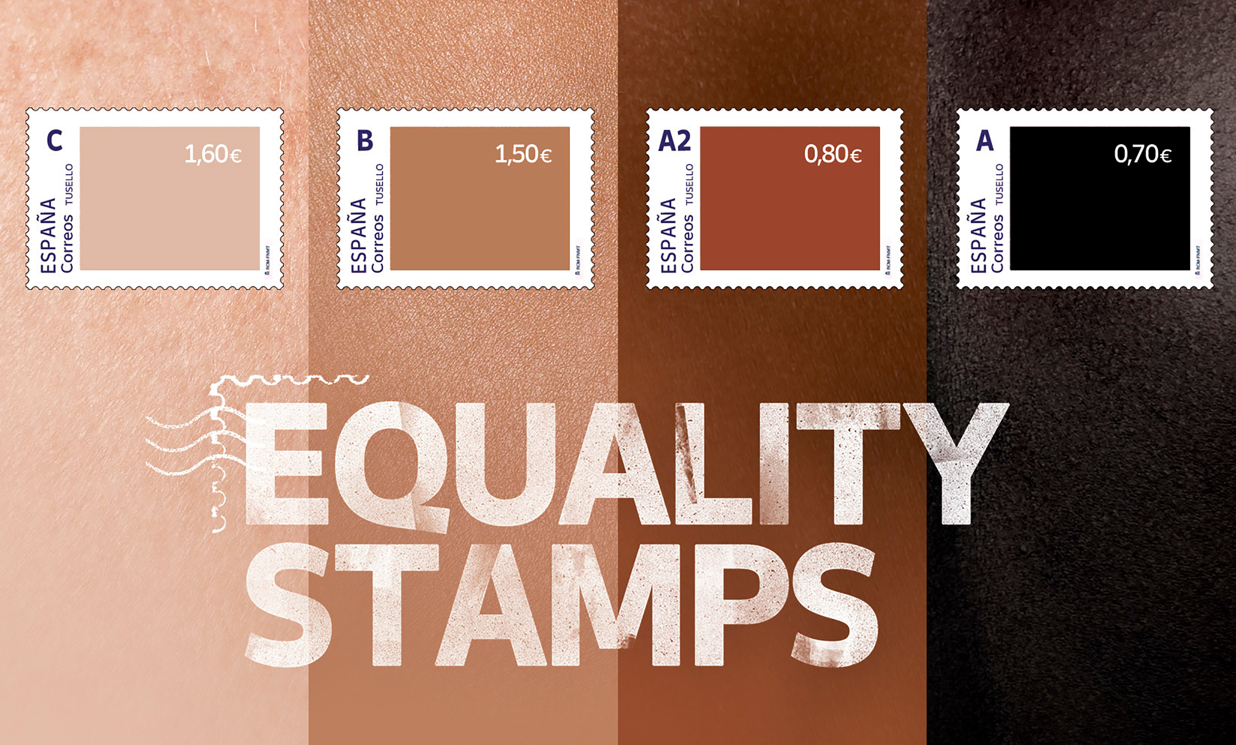 Spain's postal service ends its skin color-inspired stamp campaign that made the lightest stamps the most expensive