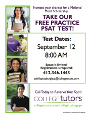 Free PSAT and National Merit Scholarship Practice - Mt. Lebanon and South Hills Students