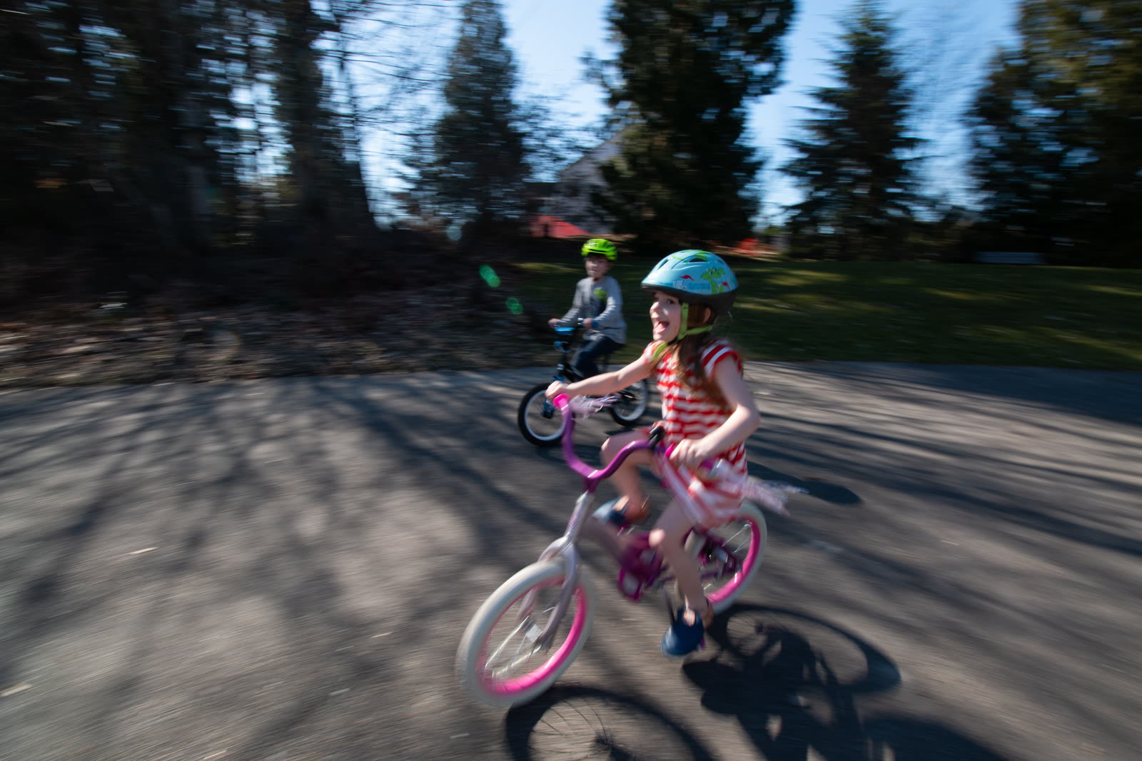 """This was Rosie's _third day_ on a pedal bike. She's absolutely crushing it. <a href=""""https://www.striderbikes.com/"""">Strider Bikes</a>, man — they totally work."""