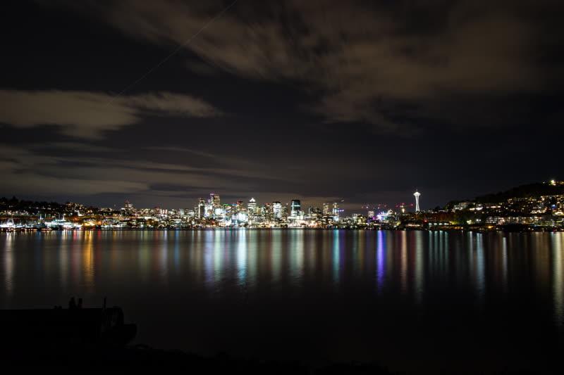 Gasworks at Night