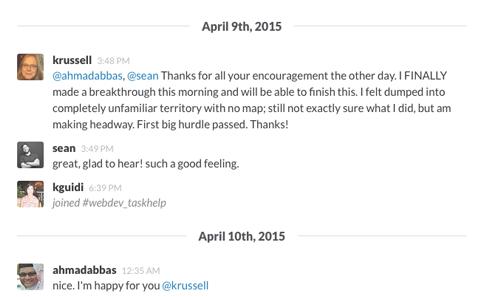 CareerFoundry student community on Slack