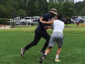 Dustin D. action photo