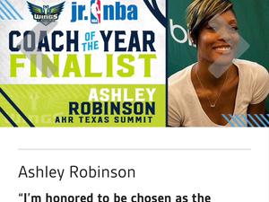 Ashley Robinson action photo