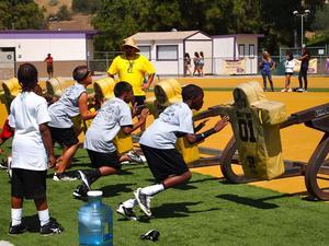 NFL Bret Lockett action photo