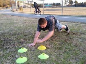 Scottie Glover action photo