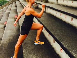 Stefanie Rousselle action photo