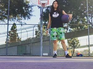 Sheika-Ann A. action photo