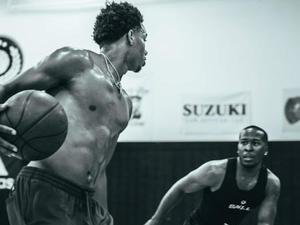 Adrian Jackson action photo