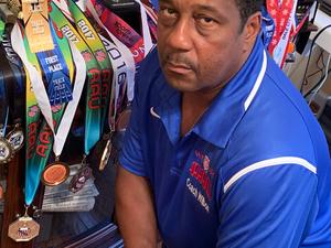 Coach Dr. Kevin Wilbon Sr. action photo