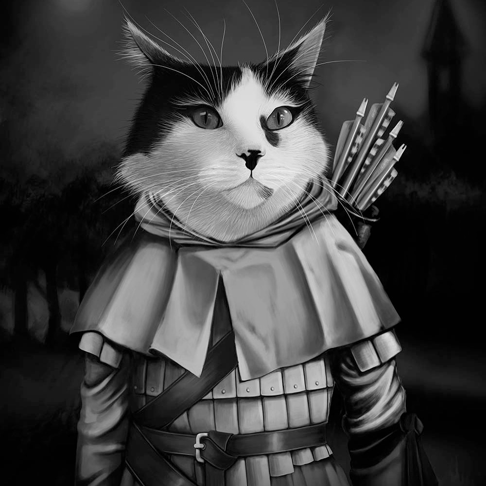 cat robin hood art