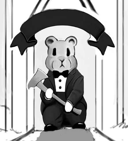 bear wearing tux
