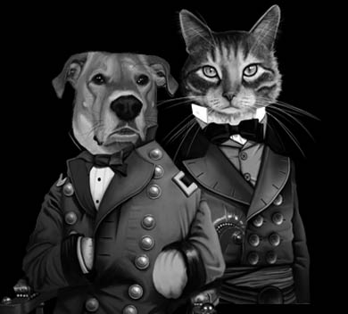 Image of Custom Portrait: Two Pets