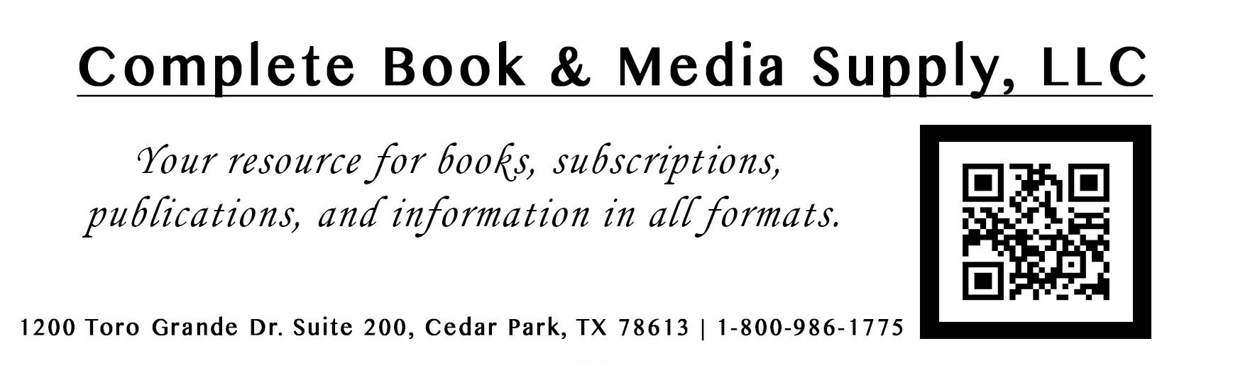 Complete Book & Media Supply, LLC