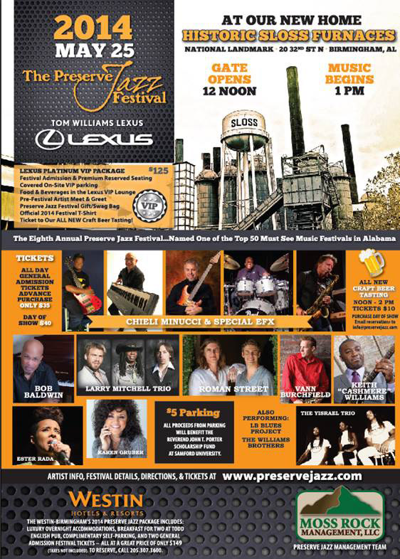 Premiere Jazz Festival 2014 Sloss Furnace