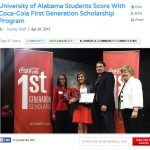 c87de2a8004a STUDENTS SCORE WITH COCA-COLA FIRST GENERATION SCHOLARSHIP PROGRAM
