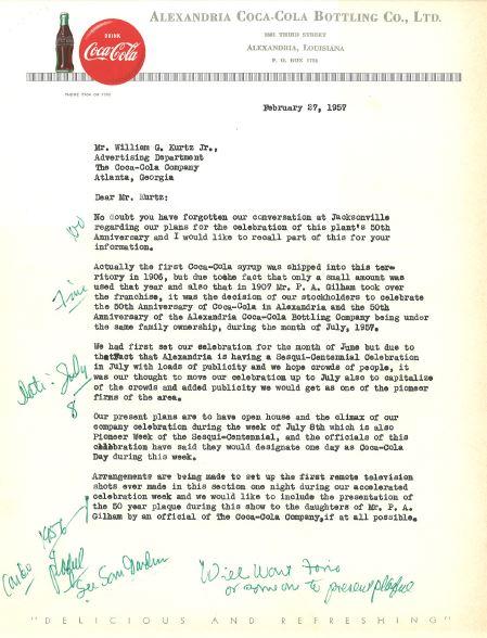 Alexandria Coca-Cola Historical Documents1 for cocacolaunited com