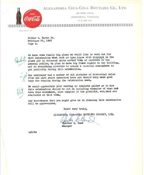 Alexandria Coca-Cola Historical Documents2 for cocacolaunited com