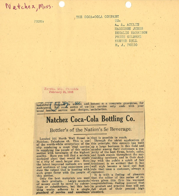 Natchez Bottlers of the Nation