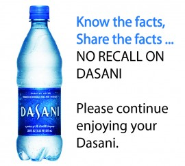 Dasani Drinking Water Recall