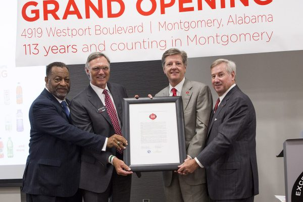 Mayor Todd Strange, Chairman Elton Dean, Grand Opening, Facility, Investment, Commitment