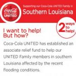 UNITED Associate Relief, southern Louisiana Flooding, 2016, West Region