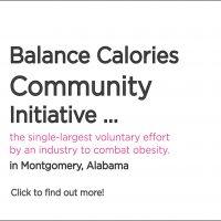 BCI, Balanced Calorie Initiative, Montgomery, Community Initiative