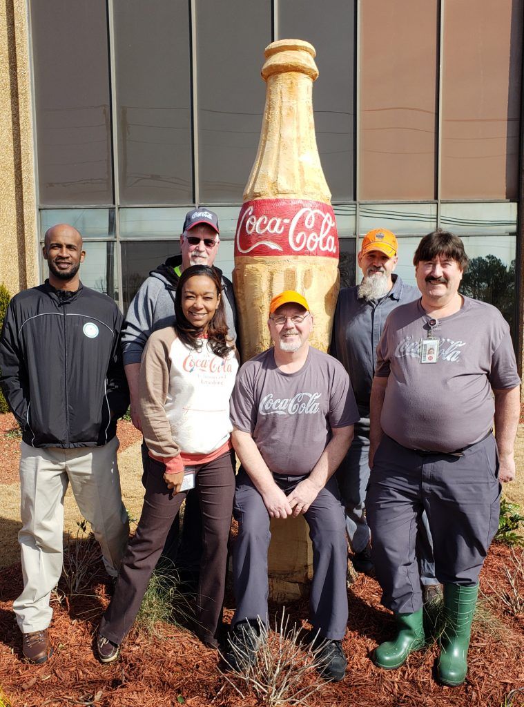 Marietta Coca-Cola, wood iconic Coca-Cola bottle, chainsaw professional, Brian Ruth