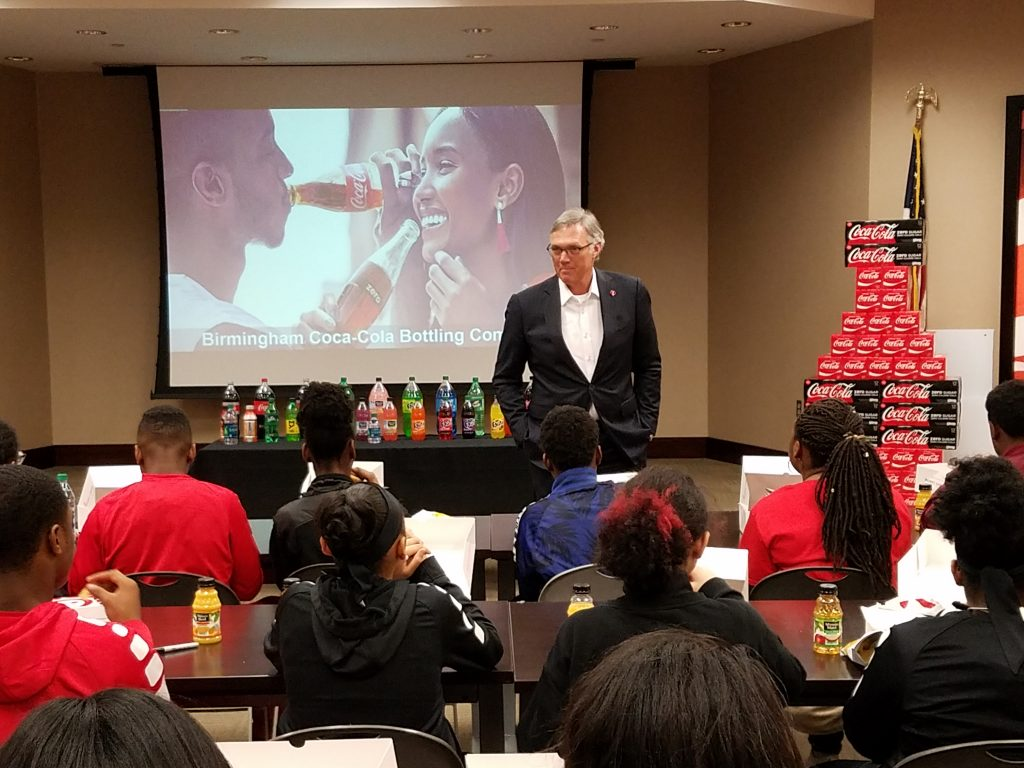 Birmingham Education Foundation Career Day, Birmingham Coca-Cola, John Sherman President & CEO