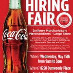 Atlanta North Metro Coca-Cola, Jobs available, Career Fair