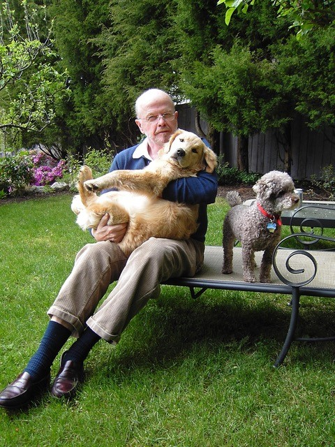 Allen with his dogs